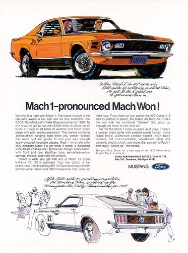 1970 Ford Mustang Mach 1 Ad - USA by Five Starr Photos ( Aussiefordadverts)