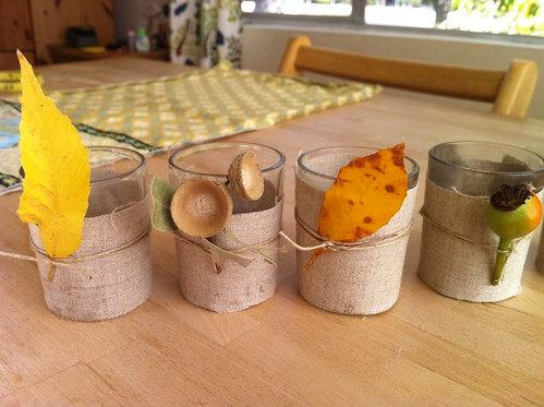 natural materials candleholders
