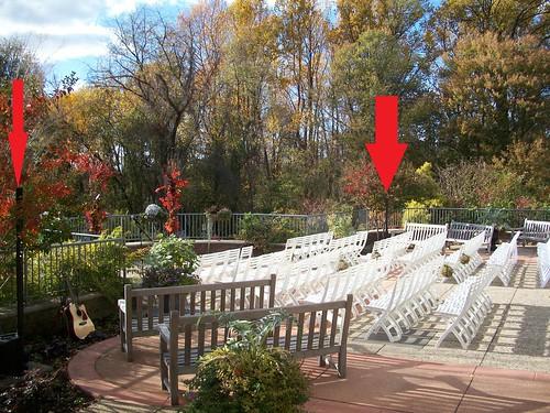 Wedding Dj Set Up Outside At Meadowlark Gardens Chris Laich Music Serviceschris Laich Music