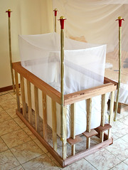 bed frame, furniture, wood, cradle, mosquito net, infant bed, bed, interior design, baby products,