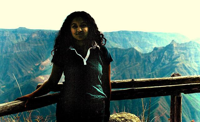 Celia at Barrancas de Cobre; Chihuahua, Mexico (2002)