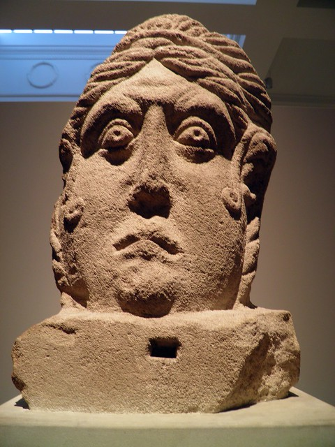 Limestone Head, Roman Britain, British Museum