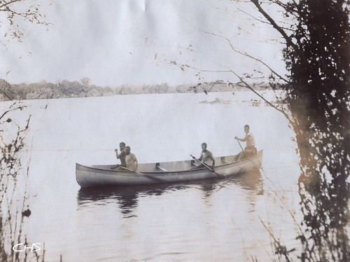 Rhodesia 1905 The Barotse Boys - Zambessi River by Claire Stocker (Stocker Images)