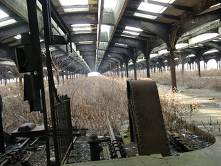 Abandoned New Jersey Central Train Terminal. Liberty State Park