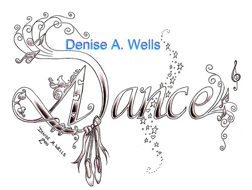Dance Tattoo Design by Denise A. Wells