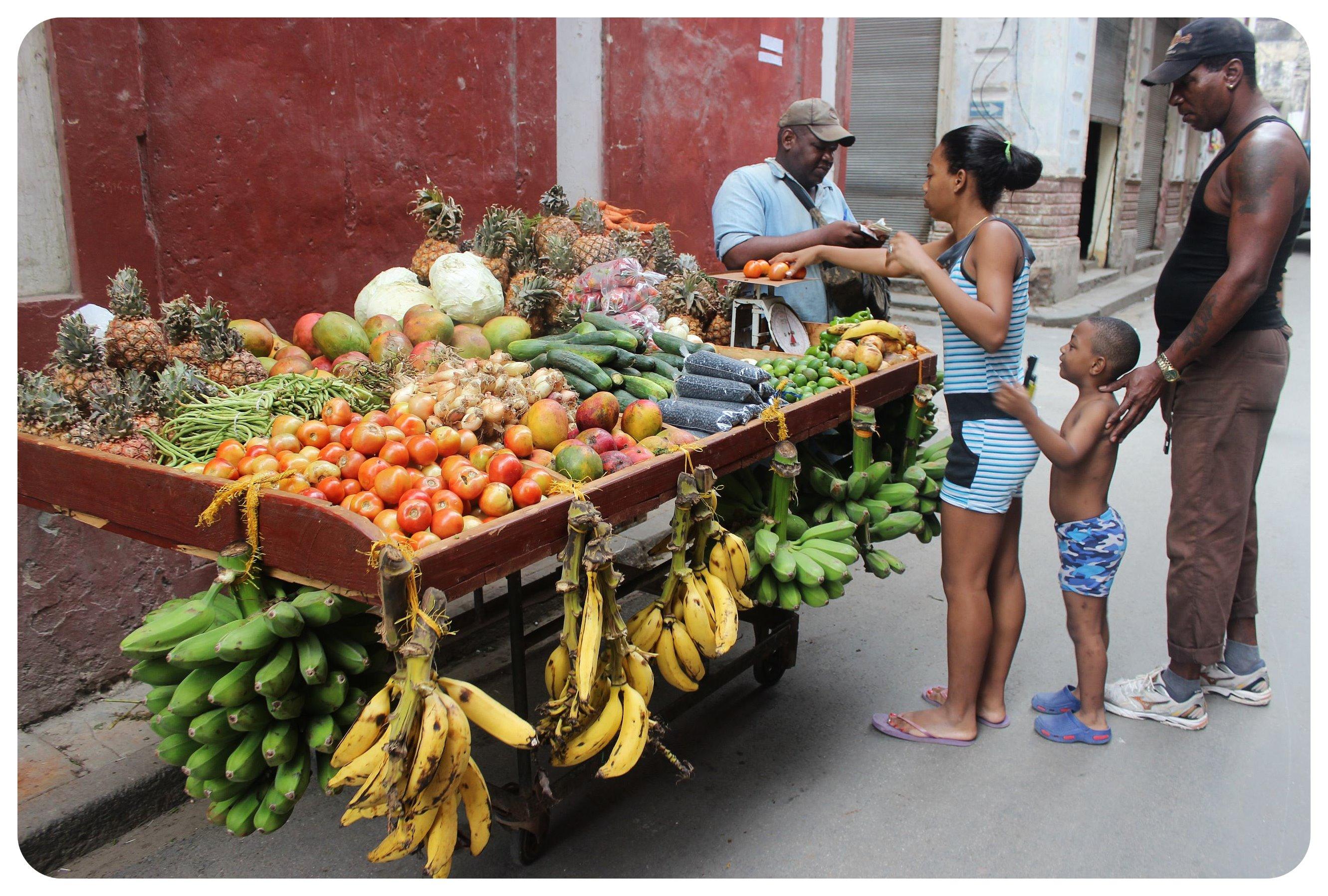 cuba fruit stall