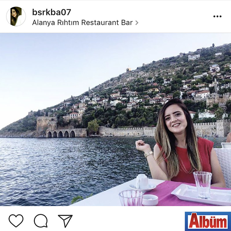Büşra Kaba, Rıhtım Restoran'da manzaraya karşı muhteşem bir gün geçirdi.