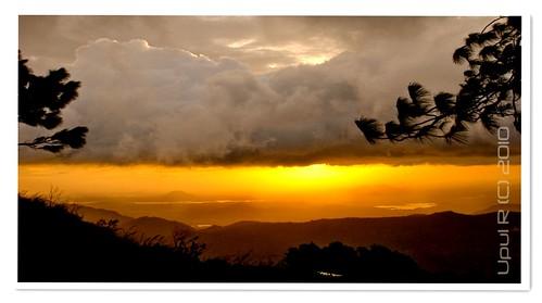 blue silhouette sunrise landscape dawn nikon sri lanka d80 hunnasgiriya 1855vr