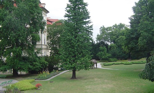 Prague: garden of the Lobkowicz Palace (& German embassy), where the Iron Curtain began to crumble in Sept. 1989
