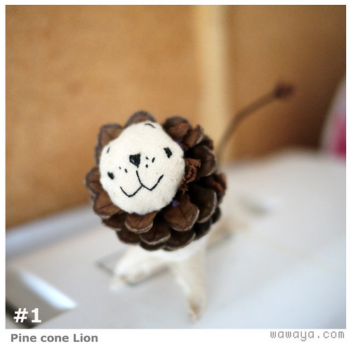 Pine Cone Lion #1
