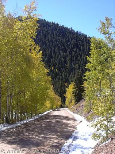The road below Raspberry Mountain, Colorado