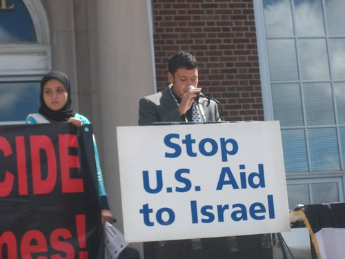 Moderator for the Day of Al-Quds in solidarity with Palestine. The rally was held at Dearborn City Hall on September 3, 2010. (Photo: Abayomi Azikiwe) by Pan-African News Wire File Photos