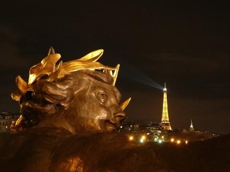 Pont Alexandre III bridge, Eiffel Tower & Nymph - Paris