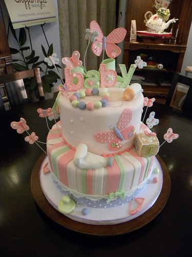 Butterfly Baby Shower Cake Images : Baby Shower Cakes: Baby Shower Cakes Butterfly Theme