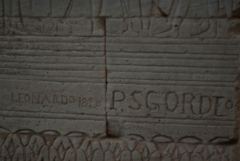 Graffiti on the Temple of Dendur, Metropolitan Museum of Art
