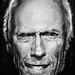 Clint Eastwood Portrait (b+w) by Limandag