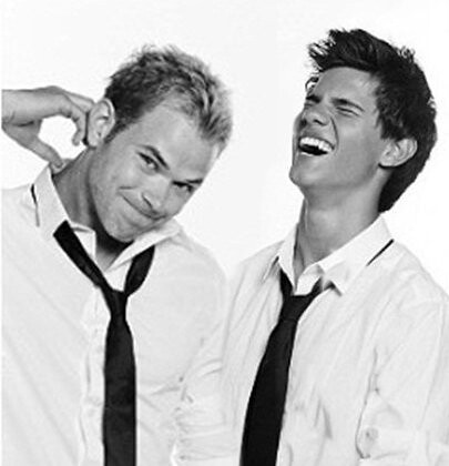 kellan lutz and taylor lautner | credit please | By: kate ...