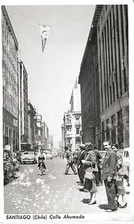 la calle Ahumada y Compañia 1958