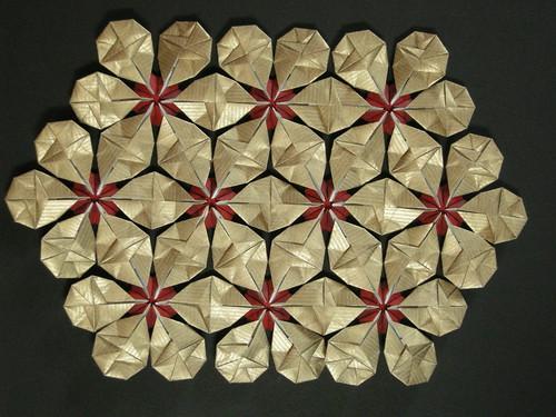Модуль оригами схема снеговика