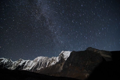 Starry Night in Dzongla, Himalaya