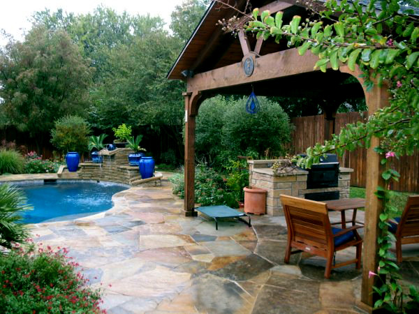 Flagstone pool deck colleyville texas this outdoor patio Flagstone patios colleyville tx