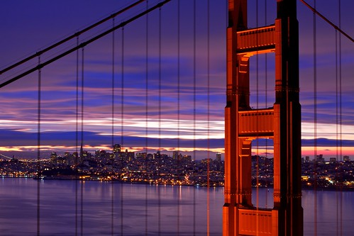 sf sanfrancisco california city morning bridge cloud tower water northerncalifornia night clouds sunrise dawn lights bay cloudy overcast goldengatebridge goldengate bayarea sanfranciscobay bluehour norcal ggb heurebleue