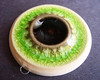 Spring green/Black Pendant by artisanclay