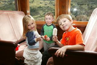 Children on Taieri Gorge Train, Dunedin