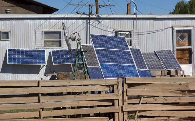 Make-shift DIY Solar Panel System