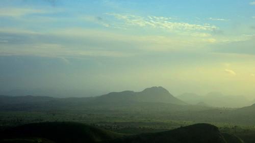 light sunset mountains volcano scenery serenity paysage sfumato cameroon cameroun rhumsiki