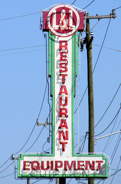 L&L Restaraunt Equipment neon sign
