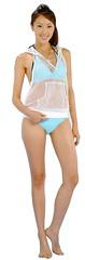 miniskirt(0.0), active undergarment(1.0), clothing(1.0), undergarment(1.0), finger(1.0), abdomen(1.0), limb(1.0), leg(1.0), photo shoot(1.0), human body(1.0), thigh(1.0), swimwear(1.0), bikini(1.0), adult(1.0),