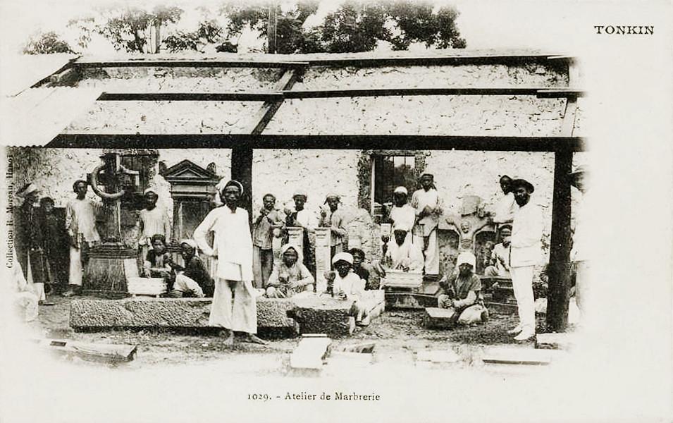 TONKIN - ATELIER DE MARBRERIE 1900