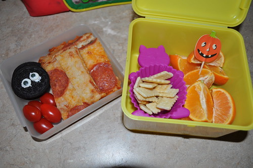 1st Grade Bento #21 - Its October! 10/01/10