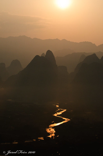 china sky mountains reflection nature sunrise landscape liriver guilin guangxi xingping riversun karstmountains platinumheartaward sewerdoc ©jaredfein goldenhourasia