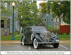 1936 Rolls-Royce in the rain