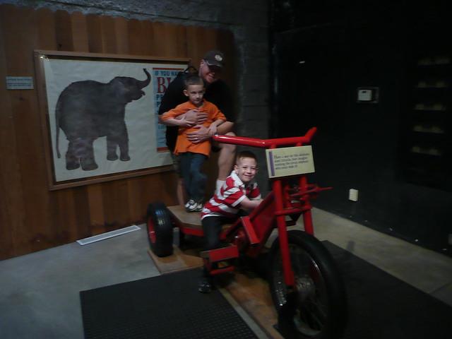Riding the Elephant bike