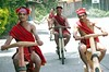 ethnic scooter race3 wooden harleys -