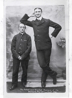 Tallest and shortest members of the Ramsgate Post Office staff
