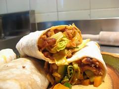 meal, breakfast, taquito, flatbread, sandwich wrap, tortilla, food, dish, cuisine, burrito,