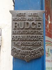 Photo of John Arthur Roebuck Rudge bronze plaque