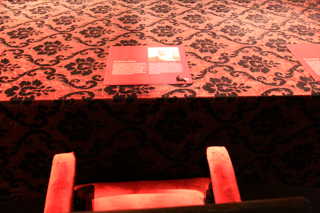 Johannes Brahms´ seat at the Duke´s dining table