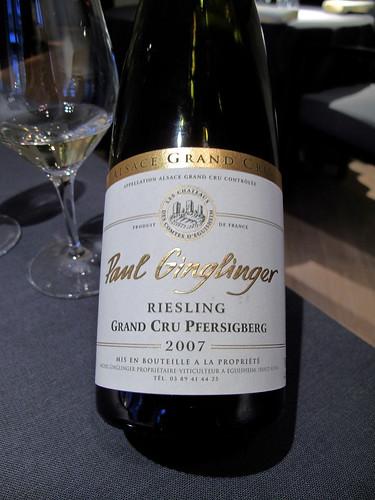Trio - 2007 Riesling, Grand Cru Pfersigberg, Paul Ginglinger, Alsace
