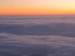 dawn(0.0), horizon(1.0), cumulus(1.0), cloud(1.0), red sky at morning(1.0), sunlight(1.0), evening(1.0), daytime(1.0), morning(1.0), sky(1.0), dusk(1.0), sunset(1.0), sunrise(1.0), afterglow(1.0),