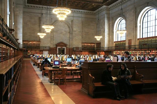 Reading Room in Schwarzman Building NY Public Library