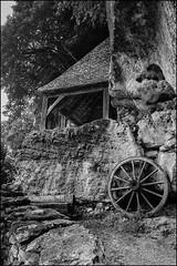 Wheel and shack (France - Dordogne)