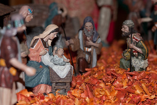 Nativity scene - adoration of the shepherds