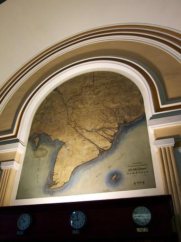 Map inside Saigon Central Post Office