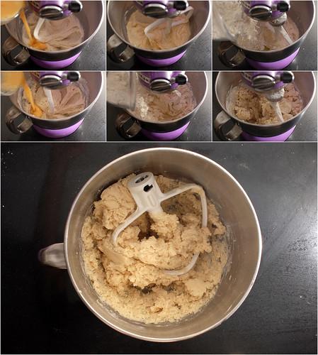 Lignac Raspberry Tart, crust mixing 2