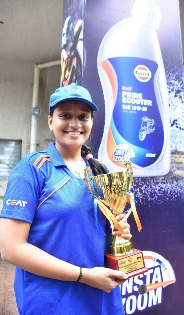 Nidhi Shukla of Team CEAT wins Best Lady Driver at Gulf Monsoon Rally 2017-